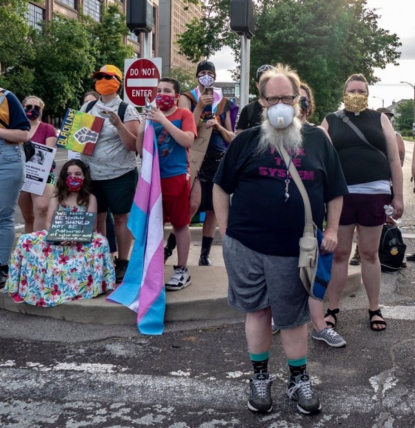 "Family At The ""pride Is Canceled"" Protest. Photo By Richard Reilly Of Saint Louis, Missouri, Taken June 5, 2020"