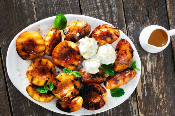 Honey Grilled Peaches