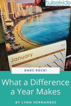 Dads Rock Year Pin