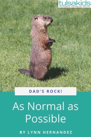 Dads Rock Groundhog Pin