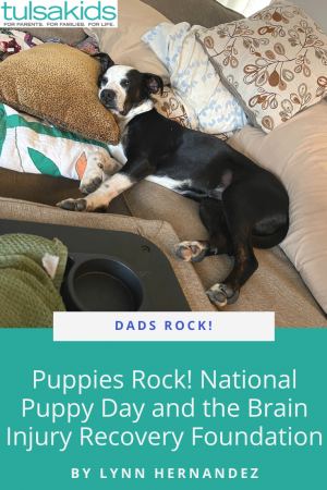 Dads Rock Puppy Pin
