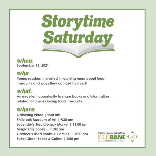 Storytime Saturday Food Bank